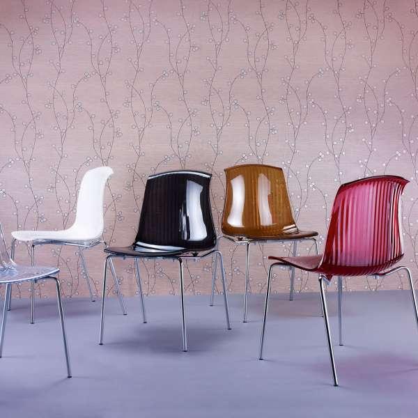 Chaise moderne en polycarbonate - Allegra - 19