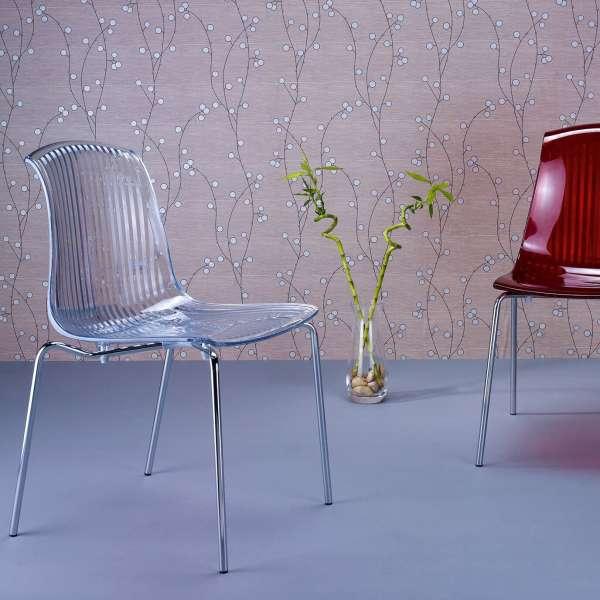 Chaise moderne en polycarbonate - Allegra - 23