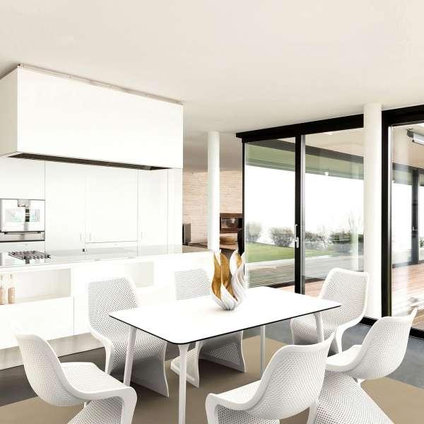 Chaise design en polypropylène blanc ajouré - Bloom - 8