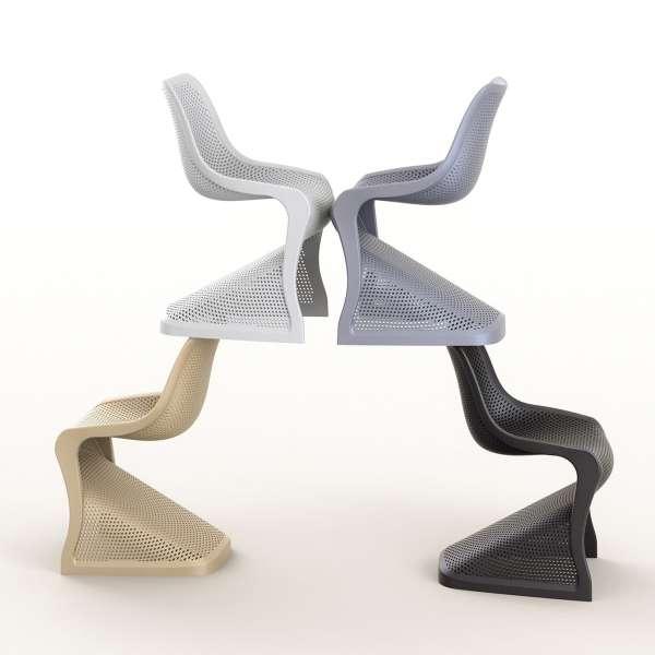 Chaise design en polypropylène ajouré - Bloom - 16