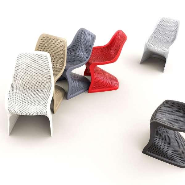Chaise design en polypropylène ajouré - Bloom - 15