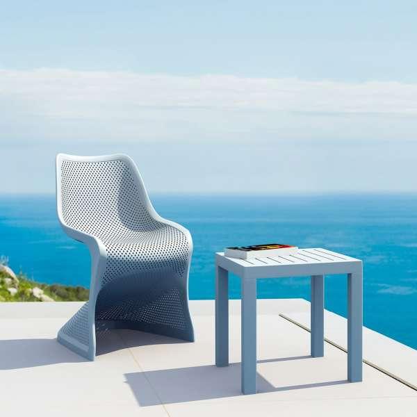 Chaise de jardin design ajourée en polypropylène - Bloom - 7