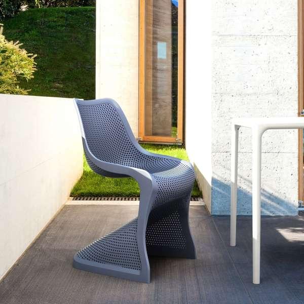 Chaise de jardin design ajourée en polypropylène - Bloom - 3