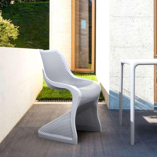 Chaise de jardin design ajourée en polypropylène - Bloom - 5