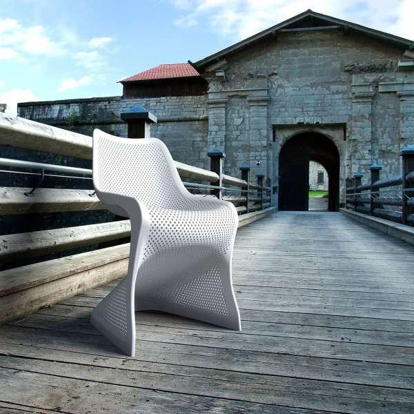 Chaise de jardin design ajourée en polypropylène - Bloom - 6