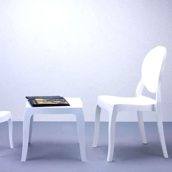 Chaise design Elizabeth Opaque en polycarbonate - 11