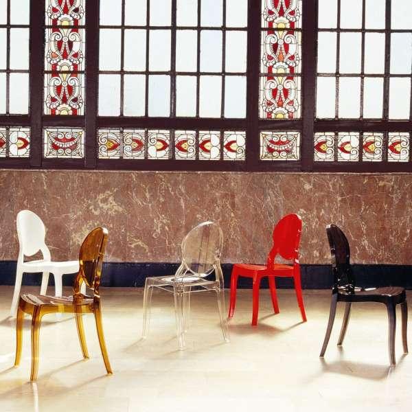 Chaise design Elizabeth Opaque en polycarbonate - 12