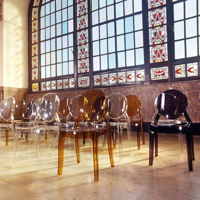 Chaise m daillon transparente en polycarbonate elizabeth 4 - Style chaises anciennes ...