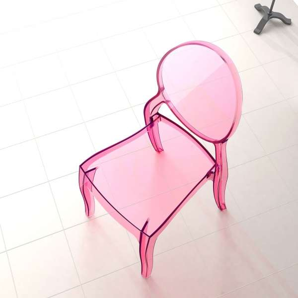 Chaise design en plexi transparent Elizabeth - 22