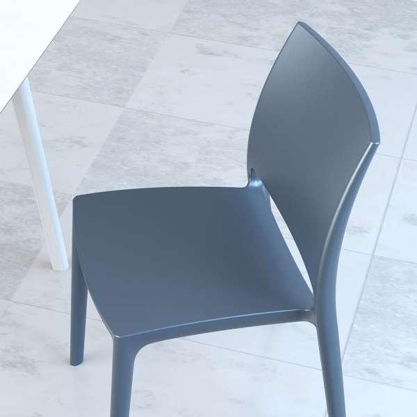 Chaise grise en plastique polypropylène - Maya - 4