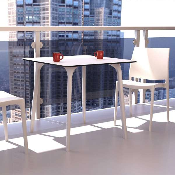 Chaise blanche en plastique polypropylène - Maya - 8