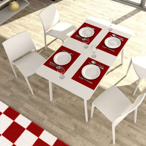 Chaise blanche en plastique polypropylène - Maya - 3