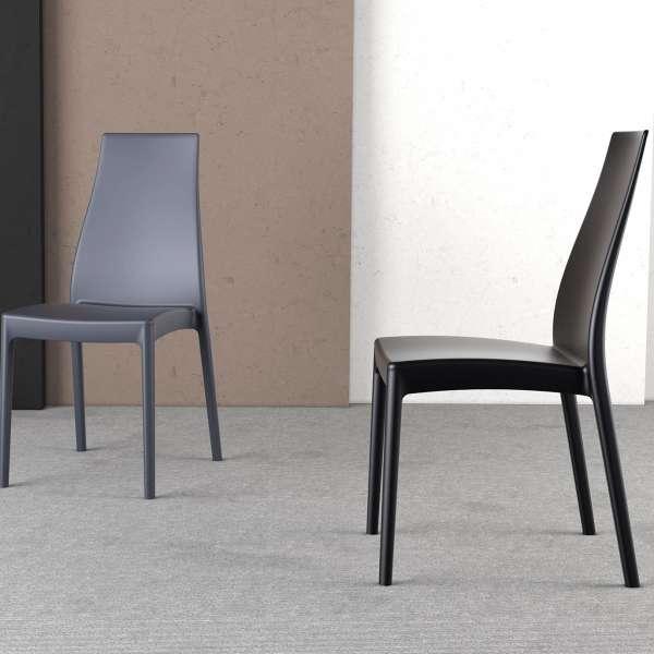 Chaise en polypropylène noir - Miranda 11 - 4