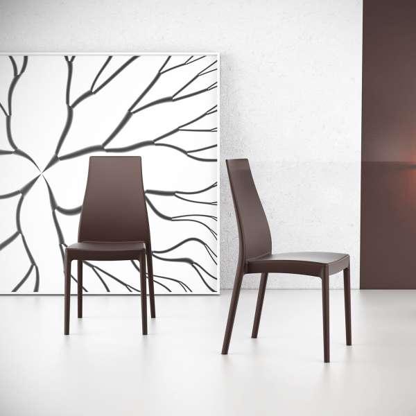 Chaise en polypropylène noir - Miranda 13 - 7