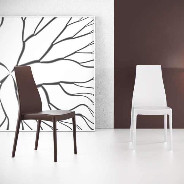 Chaise en polypropylène noir - Miranda 14 - 6