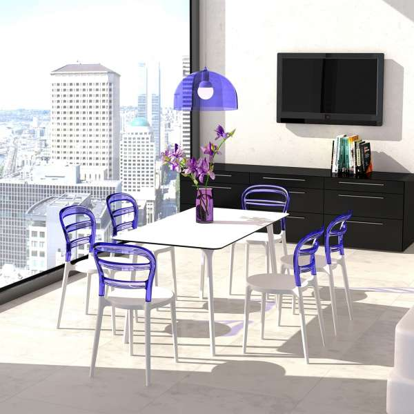 Chaise design en plexi et polypropylène - Miss Bibi 26 - 2