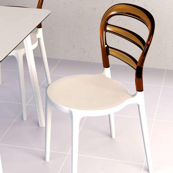 Chaise design en plexi et polypropylène - Miss Bibi 27 - 1