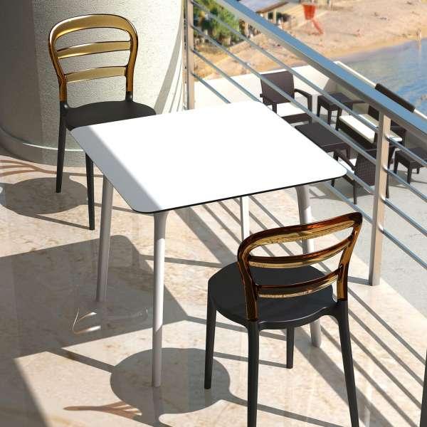 Chaise design en plexi et polypropylène - Miss Bibi 28 - 4