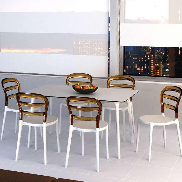Chaise design en plexi et polypropylène - Miss Bibi 29 - 6