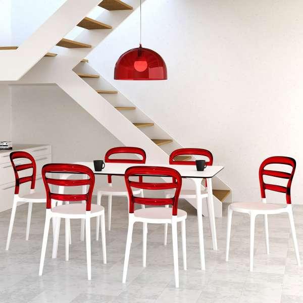 Chaise design en plexi et polypropylène - Miss Bibi 30 - 3