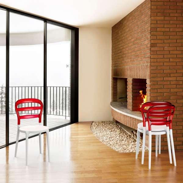 Chaise design en plexi et polypropylène - Miss Bibi 31 - 7