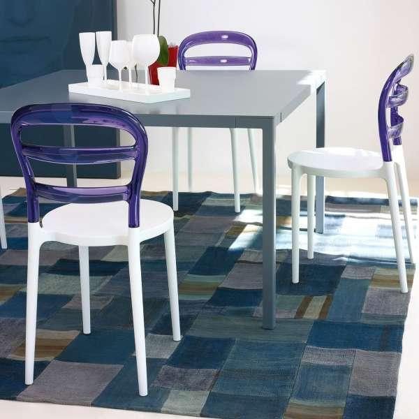 Chaise design en plexi et polypropylène - Miss Bibi 32 - 5