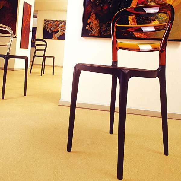 Chaise design en plexi et polypropylène - Miss Bibi 34 - 12