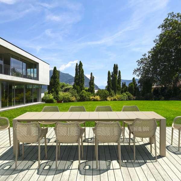Fauteuil de jardin moderne ajouré en polypropylène - Air 26 - 5