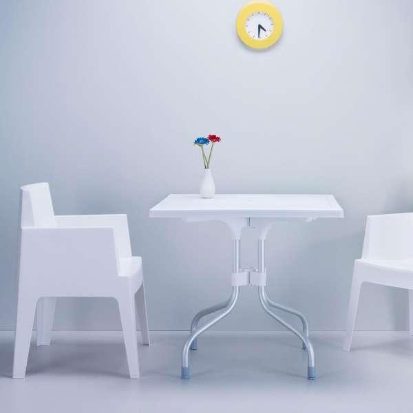 Fauteuil moderne en polypropylène blanc - Box - 3