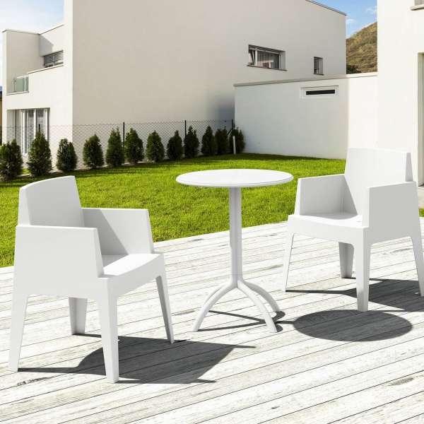 Fauteuil design de jardin en polypropylène Box 21 - 24
