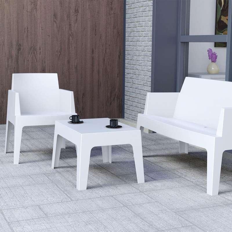 Fauteuil de terrasse moderne en polypropylène - Box | 4-pieds.com