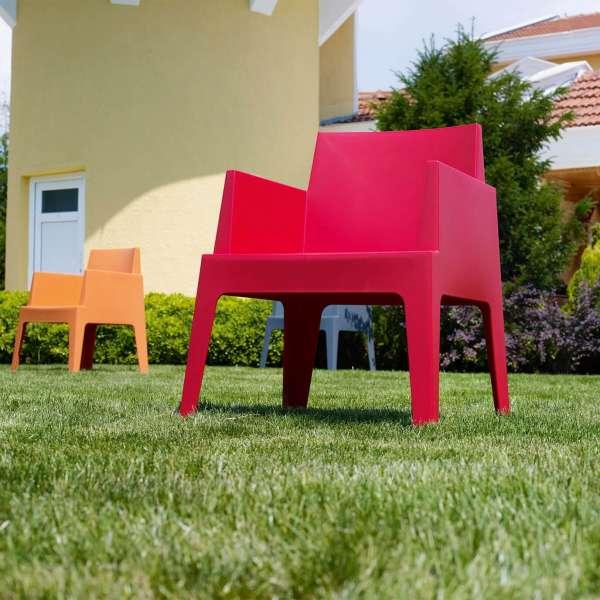 Fauteuil design de jardin en polypropylène Box 28 - 13
