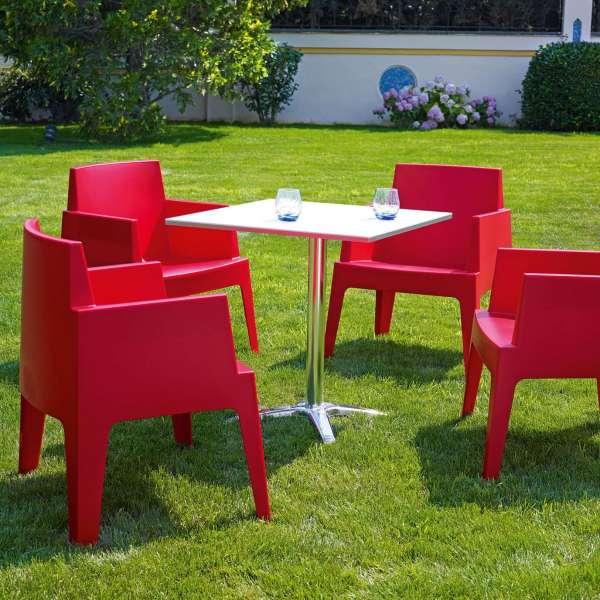 Fauteuil design de jardin en polypropylène Box 34 - 11