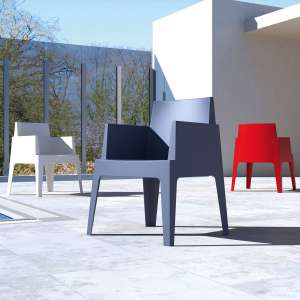 Fauteuil design de jardin en polypropylène Box 40