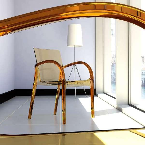 Fauteuil moderne en plexi transparent ambre - Déjà vu - 12