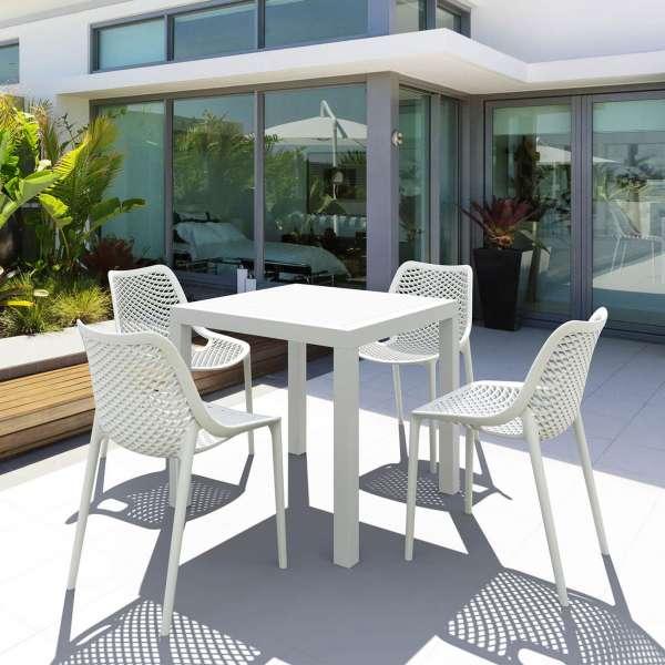 Table de terrasse carrée en polypropylène - Ares - 19
