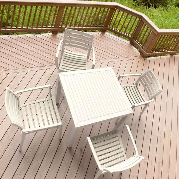 Table de terrasse carrée en polypropylène - Ares - 20
