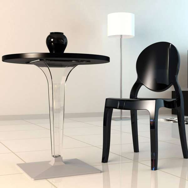Table design ronde blanche - Ice 7 - 7