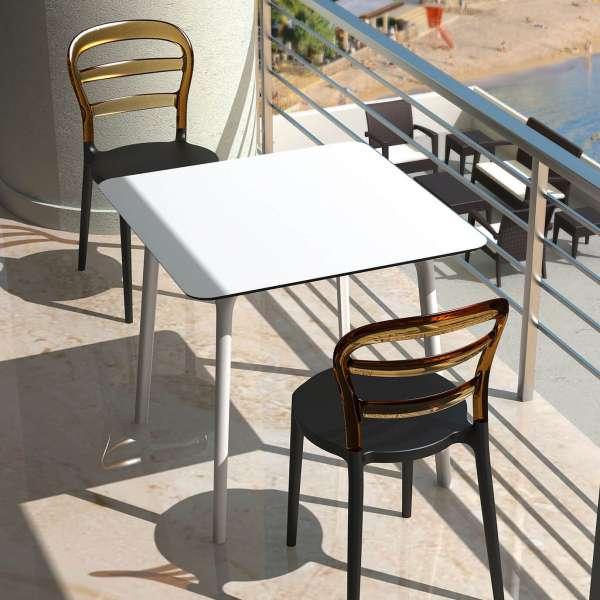 Table design carrée en stratifié - Maya - 12