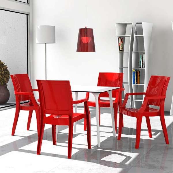 Table design carrée en stratifié - Maya - 14
