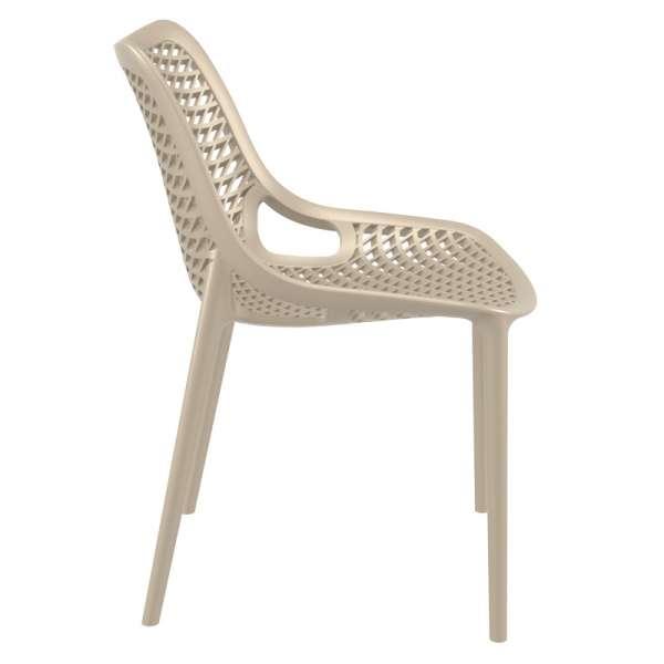 Chaise de jardin moderne ajourée en polypropylène beige - Air - 23