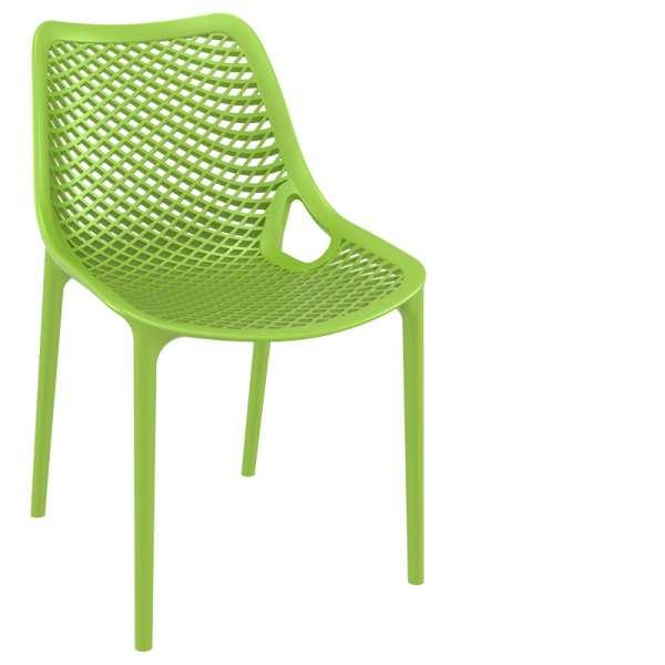 Chaise de jardin moderne ajourée en polypropylène vert tropical - Air - 26