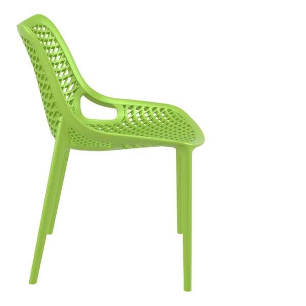 Chaise de jardin moderne ajourée en plastique vert - Air - 27