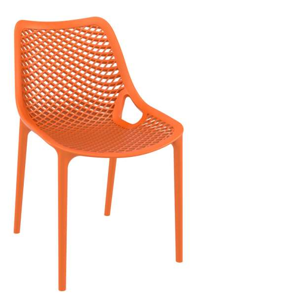 Chaise de jardin moderne ajourée en polypropylène orange - Air - 28