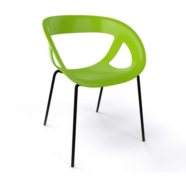 Fauteuil design italien vert pieds noirs Moema - 26