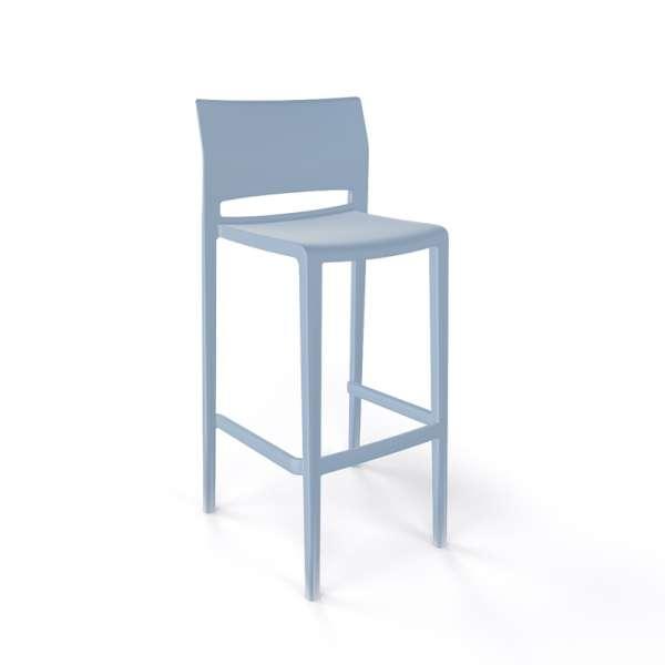 Tabouret de bar moderne empilable bleu pâle - Bakhita - 4