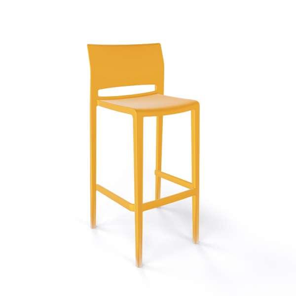 Tabouret de bar moderne empilable jaune - Bakhita - 7