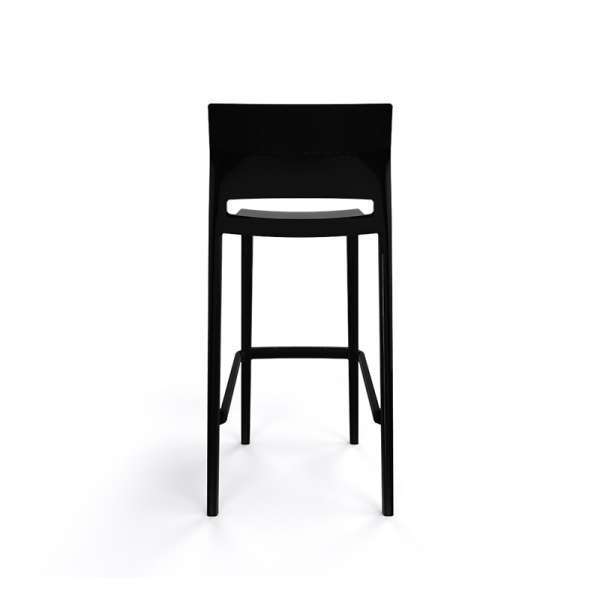 Tabouret de bar empilable noir - Bakhita - 11
