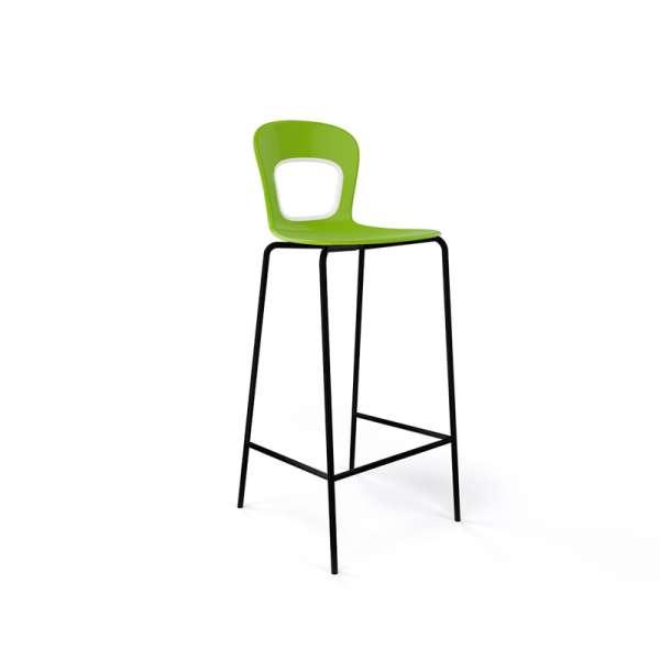 Tabouret moderne vert et piétement en métal noir hauteur bar - Blog - 9