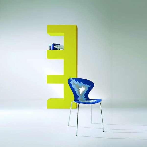 Siège multicolore de designer empilable - Big Bang - 6